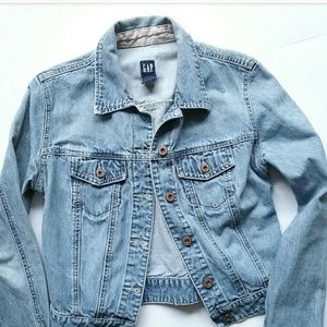 Gap Distressed Denim Jean Jacket